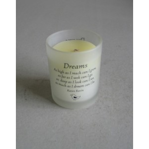 white soy candle
