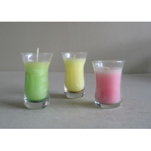 colored soy candle