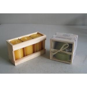 Honey comb candle