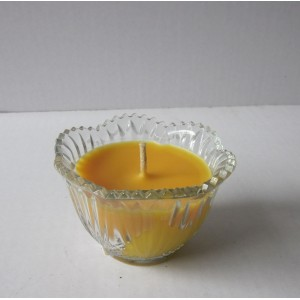 outdoor glass candle