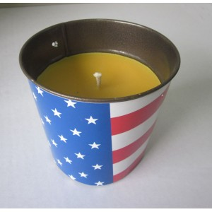metal bucket candle
