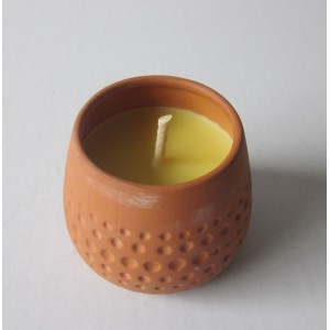 terracotta pot candle