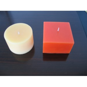 beeswax square candle