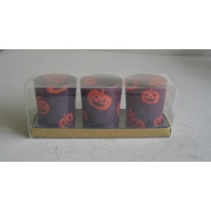 glass candle set